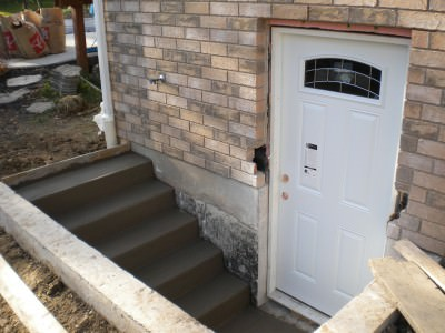 Exterior Stairs/Door - During