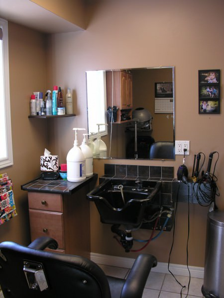 Home hair salon after da maren home renovations for How to make a beauty salon at home