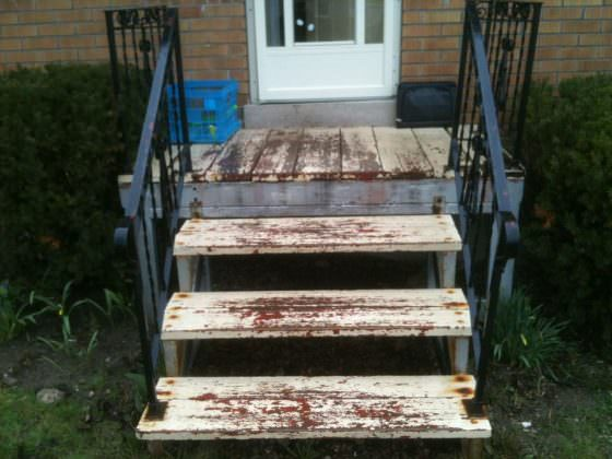 Side Porch Entrance - Before