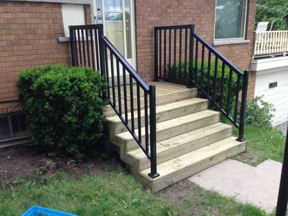 Front Porch & Railing - After