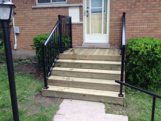 New Stairs and Railings - After