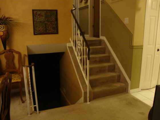 Stairs and Floor- Before