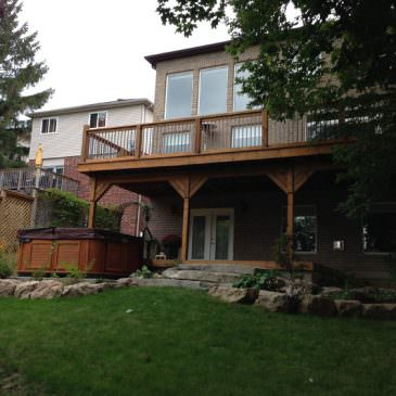 Deck renovation in Guelph
